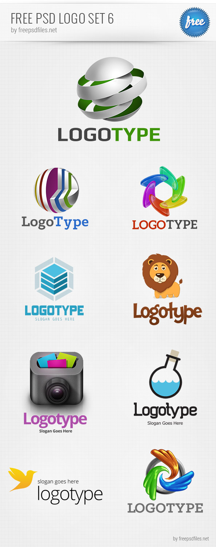free psd logo design templates pack 6 free psd files. Black Bedroom Furniture Sets. Home Design Ideas