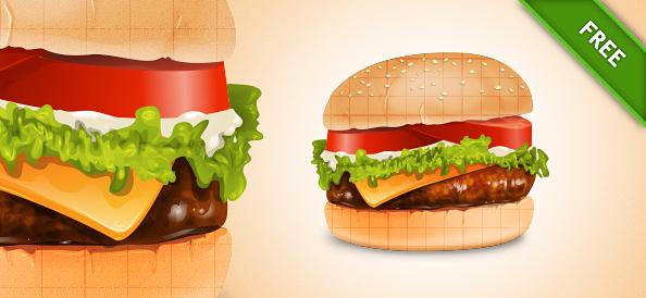 Free Burger PSD Graphics