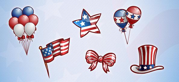 Free PSD American Patriotic Set 2