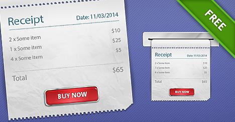 free psd receipt graphics free psd files
