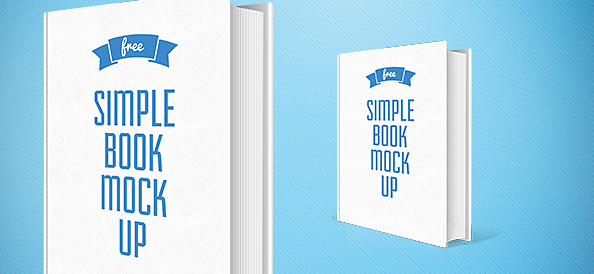 Simple Book PSD Mockup
