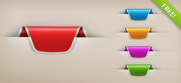Colorful Web Ribbon Set
