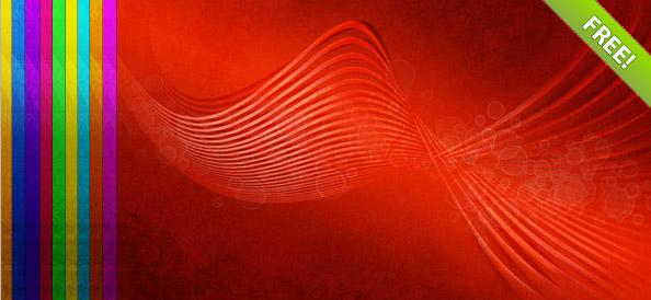 10 абстрактных фонов с волнами