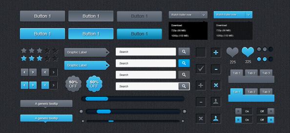 Бесплатный набор пользовательских интерфейсов в формат PSD