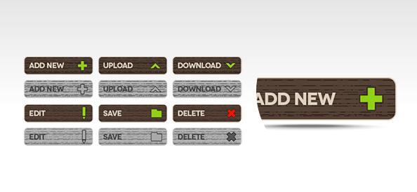 Функциональные кнопки PSD