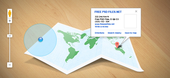 PSD набор пользовательского интерфейса для карты