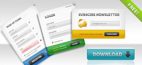 PSD  пакет пользовательских интерфейсов