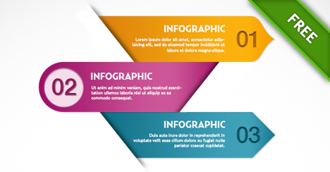free psd infographics template free psd files