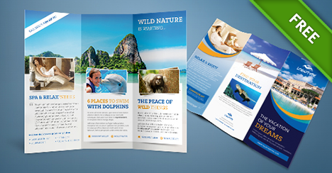 Free psd travel brochure free psd files for Hotel brochure templates free download