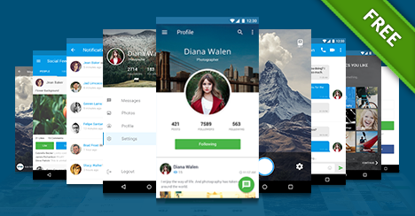 free mobile application design template free psd files