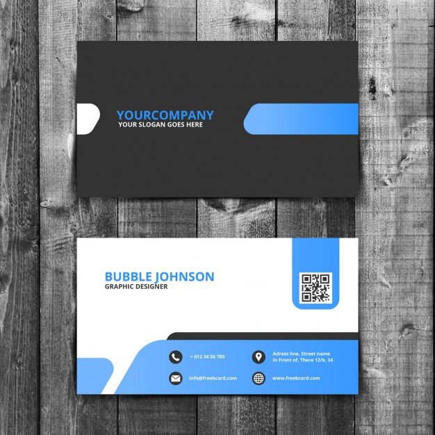 Abstract free psd business card templates reheart Images