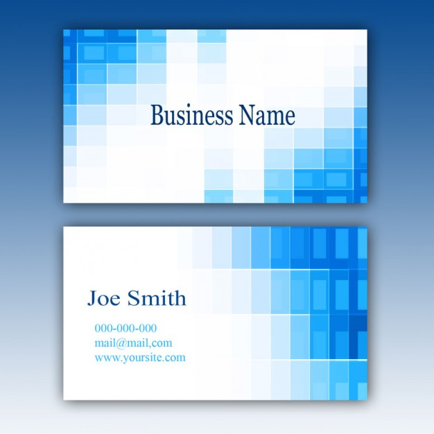 Abstract free psd business card templates flashek