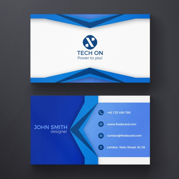 Abstract & Free PSD Business Card Templates