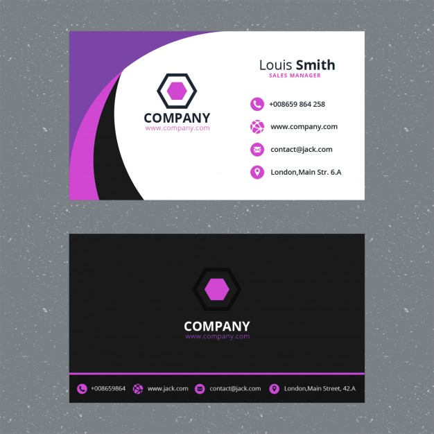 Abstract free psd business card templates reheart Image collections
