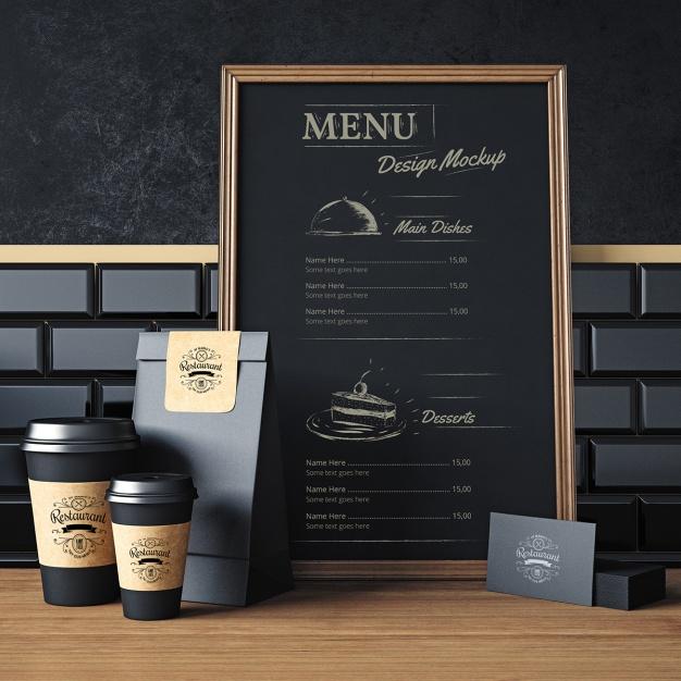 Restaurant print web free psd templates