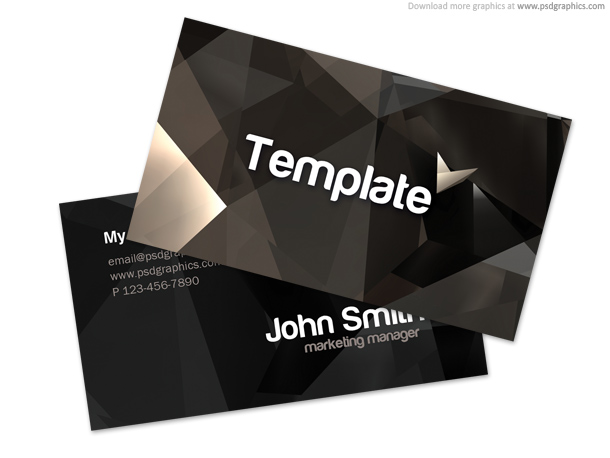 Abstract Free PSD Business Card Templates