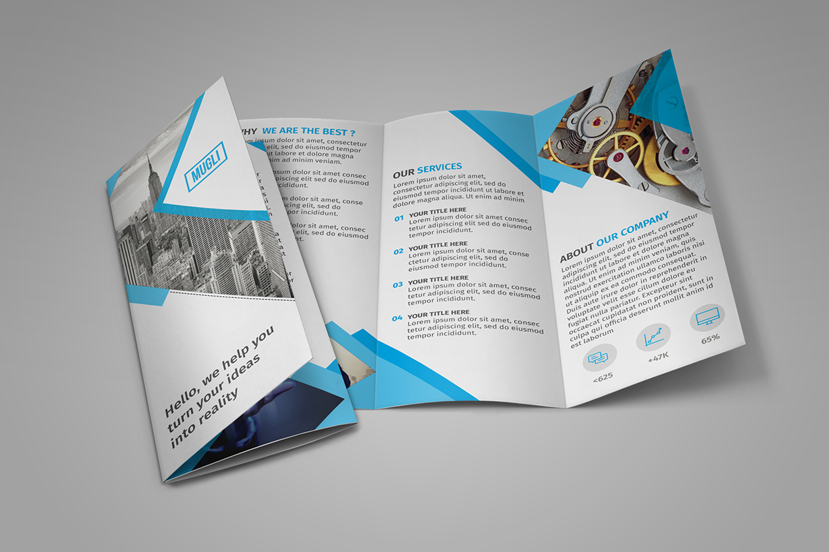 16 tri fold brochure free psd templates grab edit print for Foldable booklet template