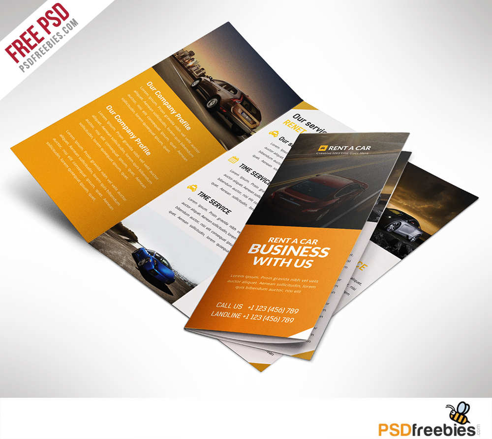 Templates For Brochures Free: 16 Tri-Fold Brochure Free PSD Templates: Grab, Edit & Print