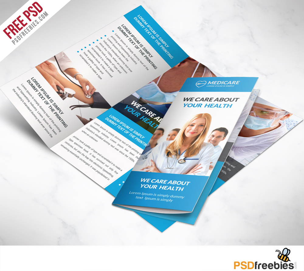 16 tri fold brochure free psd templates grab edit print for Free online tri fold brochure template