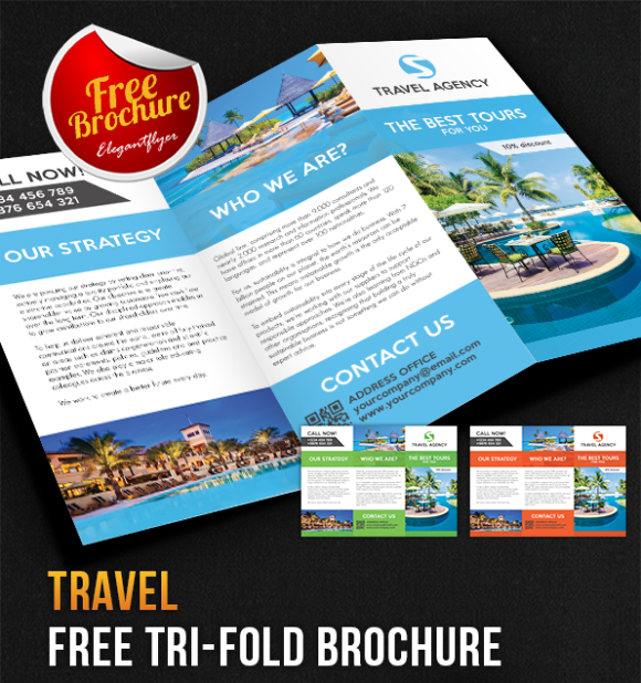 TriFold Brochure Free PSD Templates Grab Edit Print - Tri fold brochure template psd
