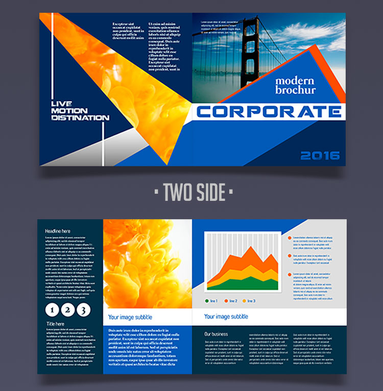 12 attention grabbing bi fold brochure free psd templates for Bi fold brochure template free