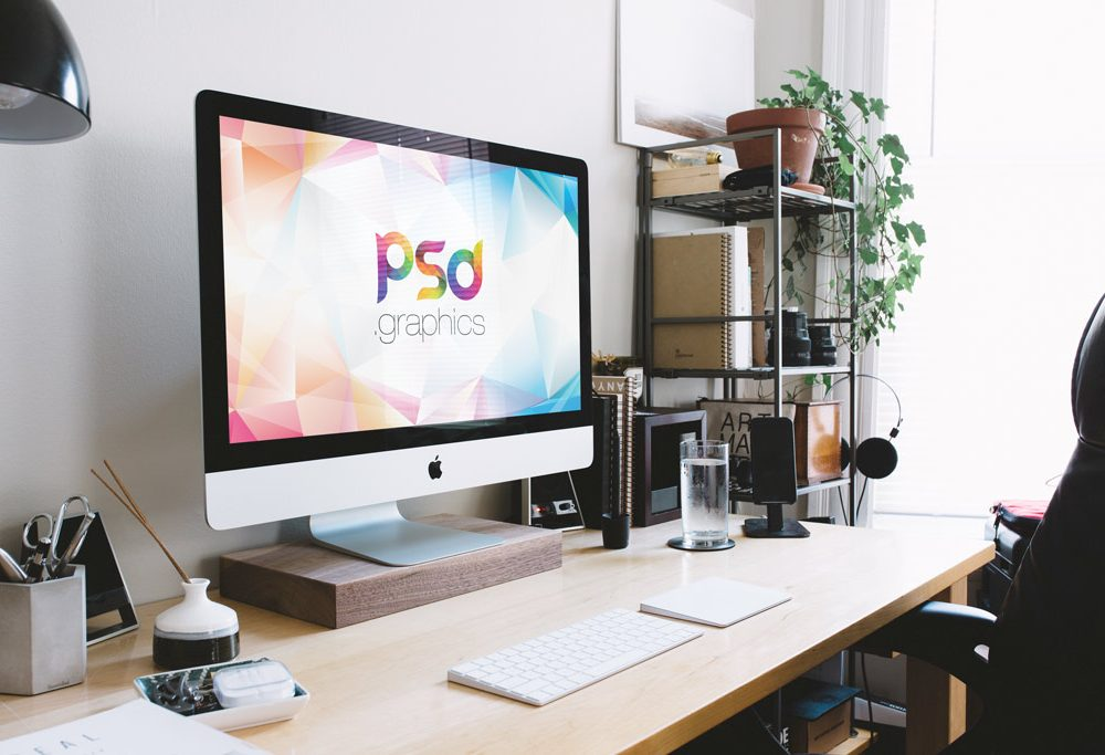 22 Free PSD Desk Mockup Designs to Showcase your Work