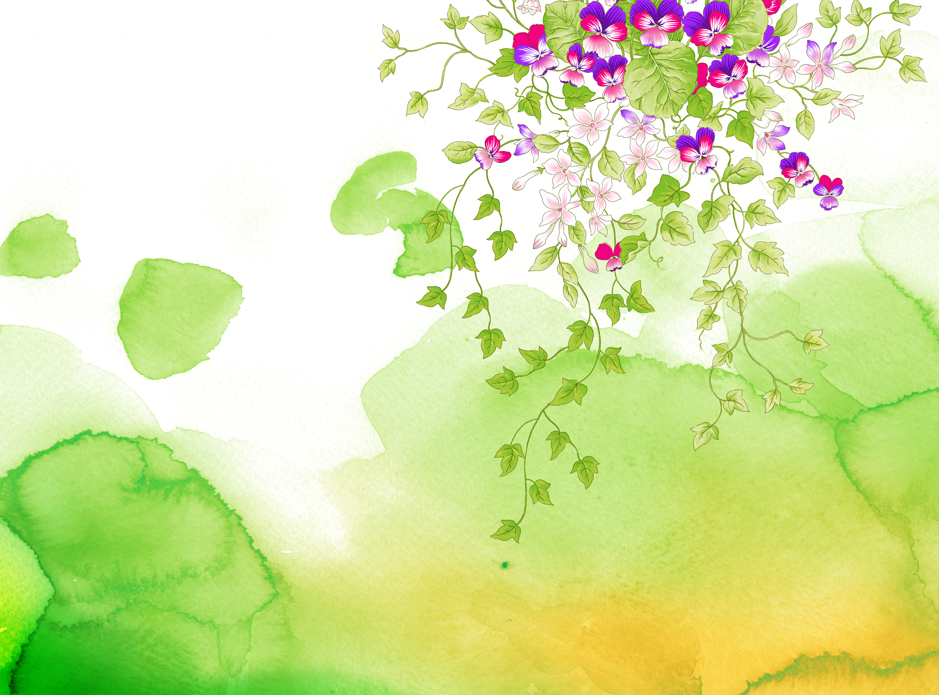 23 Free PSD Nature Backgrounds: Abstract, Watercolor