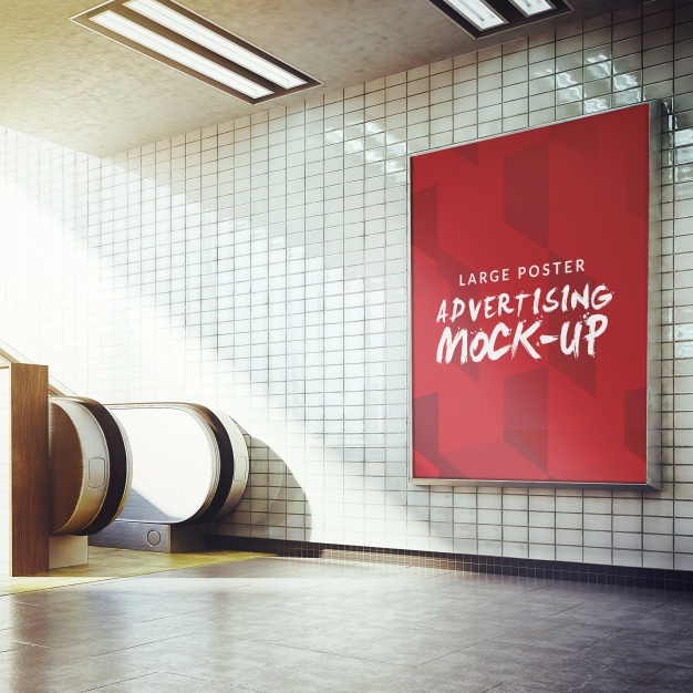 22 Free PSD Advertising Mockup-s of Posters, Billboards, Etc.