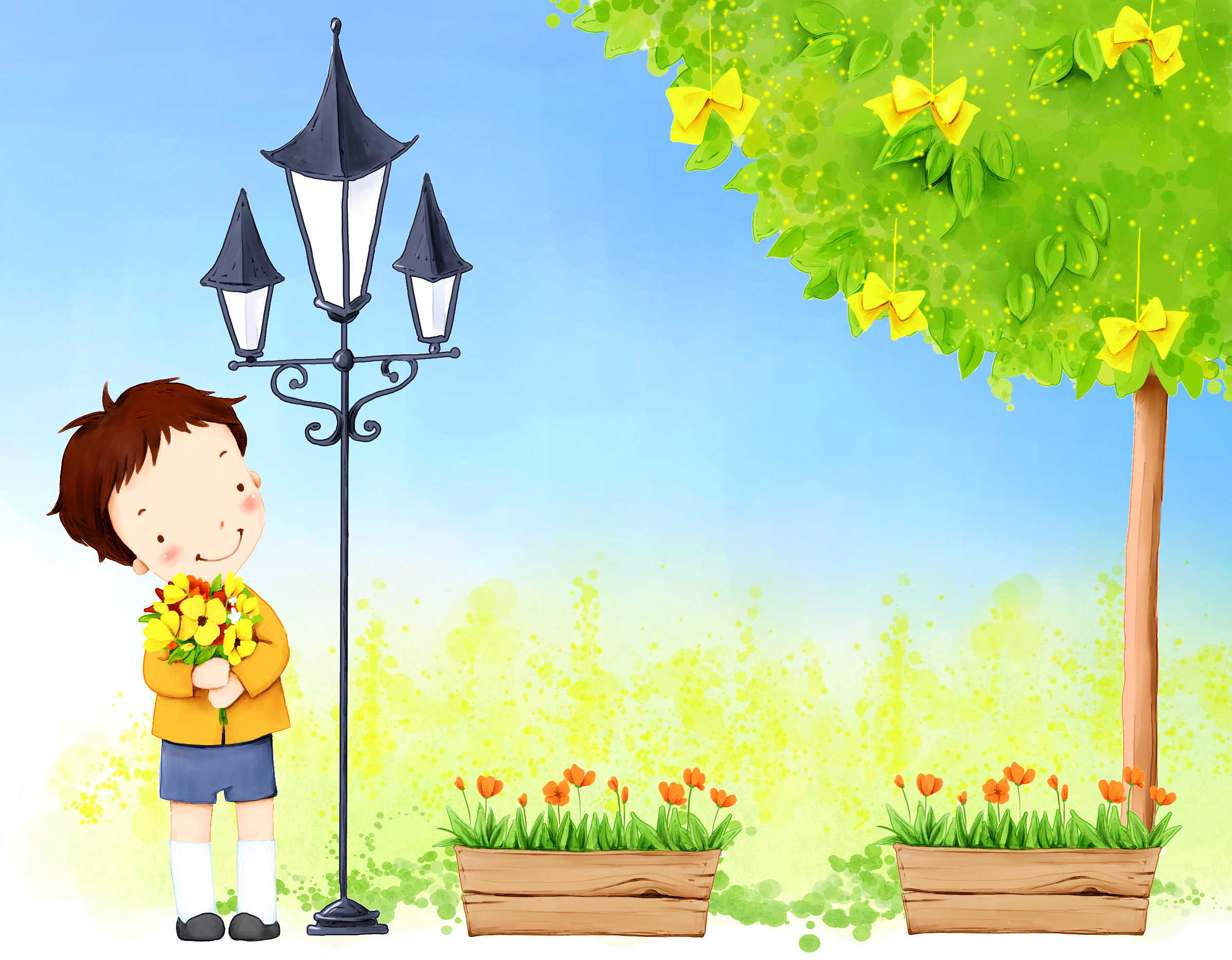 background cartoon
