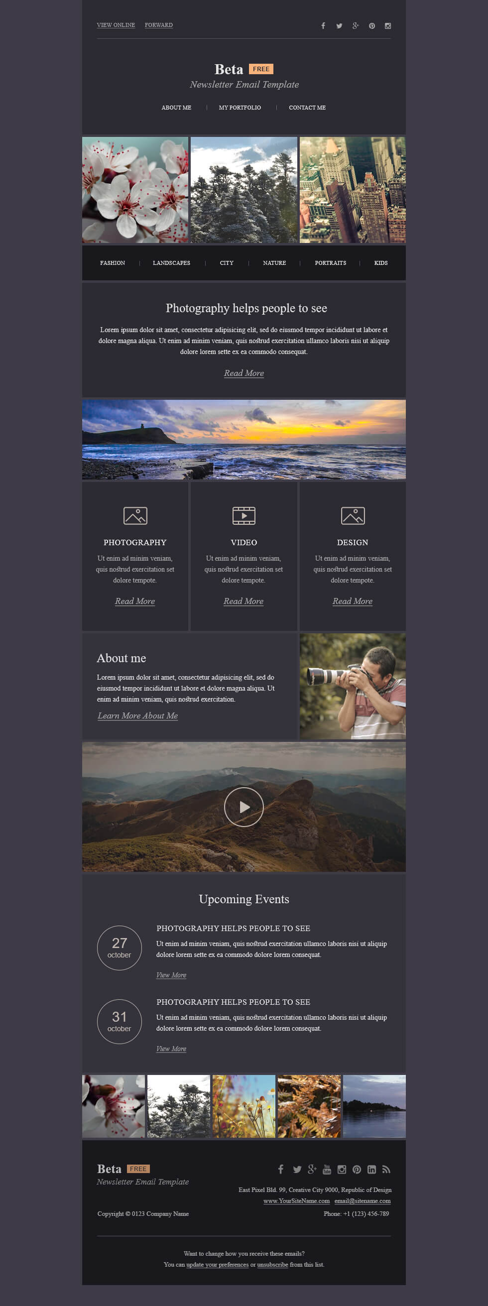 Mailbakery Beta - Free HTML Email Template - Free PSD Files